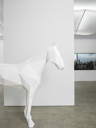 the WHite Horse by Ben Foster - Melbourne Art Fair 2014